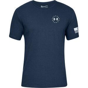 アンダーアーマー Under Armour メンズ Tシャツ トップス【Freedom Flag Graphic T-Shirt】Academy/Red