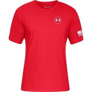 アンダーアーマー Under Armour メンズ Tシャツ トップス【Freedom Flag Graphic T-Shirt】Red/Academy
