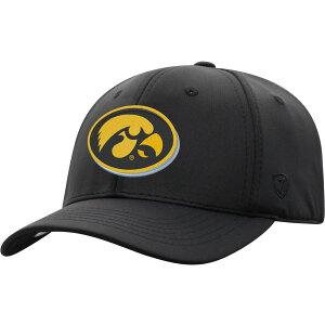 トップオブザワールド Top of the World メンズ キャップ 帽子【Iowa Hawkeyes Phenom-Bob 1Fit Flex Black Hat】