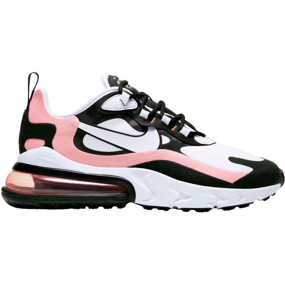 ナイキ Nike レディース スニーカー シューズ・靴【Air Max 270 React Shoes】Blk/Wht/Bleach Corl/M Gld画像