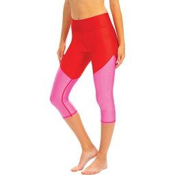ドルフィン Dolfin レディース ボトムのみ 水着・ビーチウェア【Uglies Revibe Aqua Swim Capris】Racing Red/Fuschia Fever