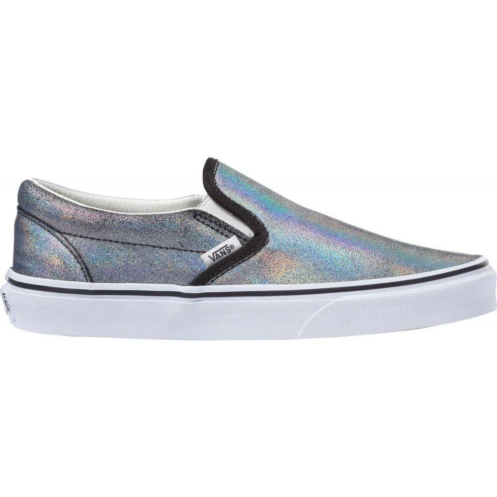 ヴァンズ Vans レディース スリッポン・フラット シューズ・靴【Classic Slip-On Prism Suede Shoes】Dark Grey Metallic画像