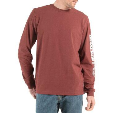 ティンバーランド Timberland メンズ Tシャツ トップス【Pro Logo Sleeve Base Plate Wicking T-Shirt】Maroon