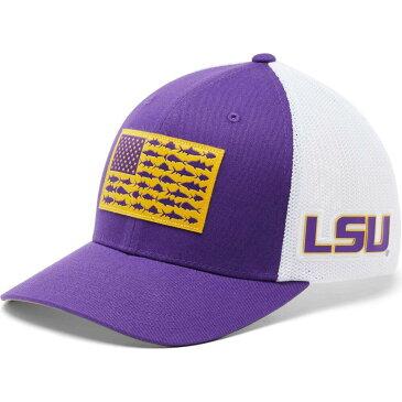 コロンビア Columbia メンズ キャップ 帽子【LSU Tigers Purple PFG Flag Mesh Fitted Hat】