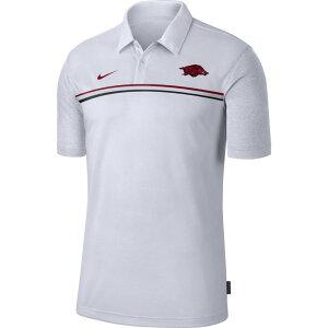 ナイキ Nike メンズ ポロシャツ ドライフィット トップス【Arkansas Razorbacks Dri-FIT Football Sideline White Polo】