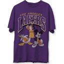 ジャンクフード Junk Food メンズ Tシャツ トップス【Los Angeles Lakers Purple Disney Vintage Mickey Squad T-Shirt】