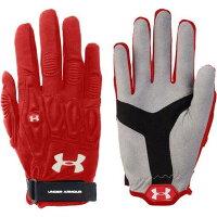 アンダーアーマー Under Armour レディース ラクロス グローブ【Illusion Lacrosse Field Gloves】Red