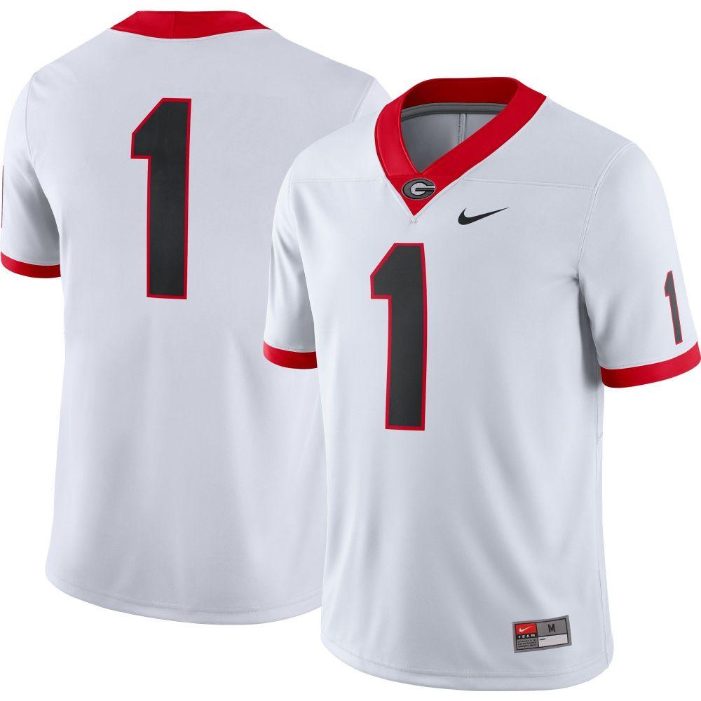 メンズファッション, その他  Nike Georgia Bulldogs 1 Dri-FIT Game Football White Jersey