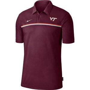ナイキ Nike メンズ ポロシャツ ドライフィット トップス【Virginia Tech Hokies Maroon Dri-FIT Football Sideline Polo】