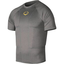 エボシールド EvoShield メンズ アメリカンフットボール トップス【Adult Performance Football Rib Shirt with Shields】Charcoal