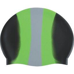 ドルフィン Dolfin ユニセックス 水着・ビーチウェア 【Color Burst Swim Cap】Black/Green/Silver