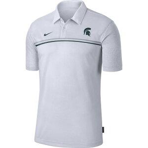 ナイキ Nike メンズ ポロシャツ ドライフィット トップス【Michigan State Spartans Dri-FIT Football Sideline White Polo】