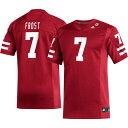アディダス adidas メンズ トップス 【Scott Frost Nebraska Cornhuskers #7 Scarlet Replica Football Jersey】
