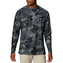 コロンビア Columbia メンズ 長袖Tシャツ トップス【Super Terminal Tackle Long Sleeve Shirt】Black Gamefish Camo