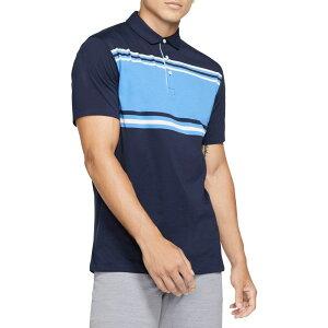 ナイキ Nike メンズ ゴルフ ドライフィット ポロシャツ トップス【Dri-FIT Player Striped Golf Polo】Obsidian