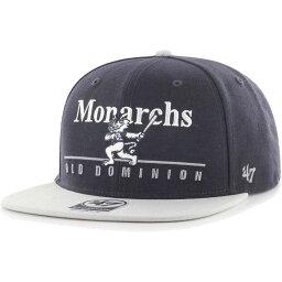 フォーティセブン 47 メンズ キャップ 帽子【Old Dominion Monarchs Blue Rosemont Captain Adjustable Hat】