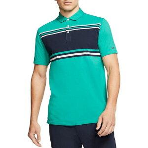 ナイキ Nike メンズ ゴルフ ドライフィット ポロシャツ トップス【Dri-FIT Player Striped Golf Polo】Neptune Green