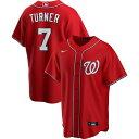 ナイキ Nike メンズ トップス 【Replica Washington Nationals Trea Turner #7 Red Cool Base Jersey】