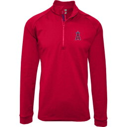 レベルウェア Levelwear メンズ トップス 【Los Angeles Angels Red Calibre Icon Quarter-Zip Shirt】