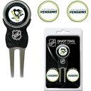 チームゴルフ Team Golf ユニセックス ゴルフ 【Pittsburgh Penguins Divot Tool and Marker Set】
