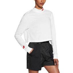 ナイキ Nike レディース ラクロス Tシャツ トップス【Sportswear Lipstick Cropped Long-Sleeve T-Shirt】White