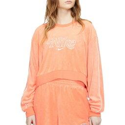 ナイキ Nike レディース ラクロス トップス【Retro Femme Terry Cropped Crew Sweatshirt】Orange Trance