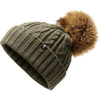 ザ ノースフェイス The North Face レディース ニット 帽子【Oh-Mega Fur Pom Beanie】New Taupe Green