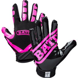 バトル Battle ユニセックス アメリカンフットボール レシーバーグローブ グローブ【Adult Ultra-Stick Receiver Gloves】Pink/Black
