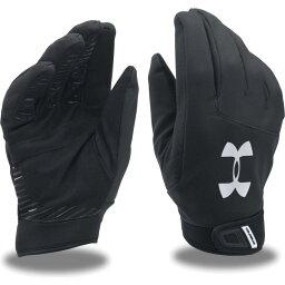 アンダーアーマー Under Armour ユニセックス アメリカンフットボール グローブ【Adult Sideline ColdGear Gloves】Black/Silver