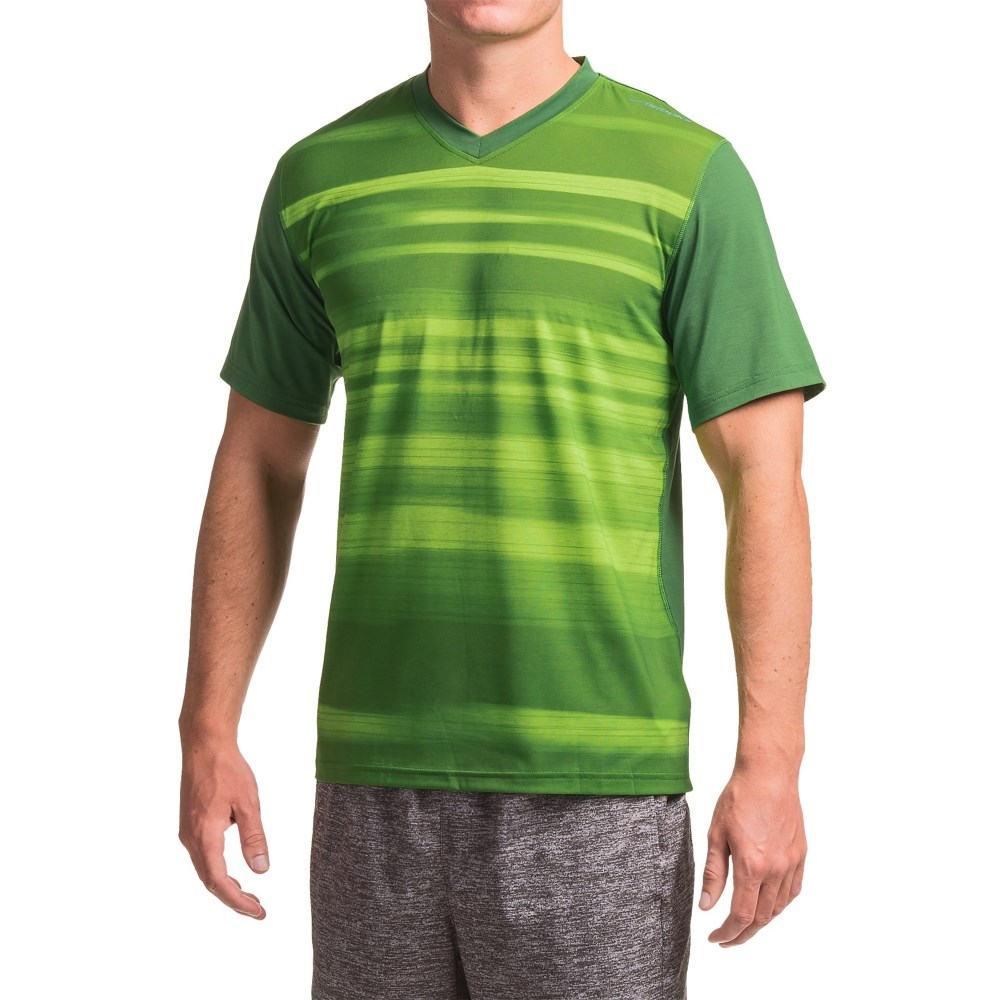 ブルックス Brooks メンズ ランニング ウェア【Fly-By Running Shirt - Short Sleeve 】Heather Forest Blur