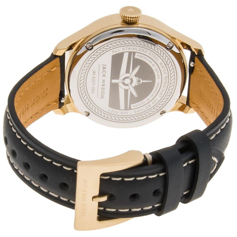 ジャックメーソン Jack Mason メンズ 腕時計【Aviator Watch with Leather Band - 36mm】Grey/Grey