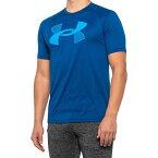 アンダーアーマー Under Armour メンズ ヨガ・ピラティス トップス【heatgear big logo tech t-shirt - short sleeve】Graphite Blue
