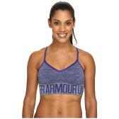 アンダーアーマー Under Armour レディース インナー ブラジャー【UA Armour Seamless Low Feeder Stripe Bra】Carbon Heather/Grape Fusion