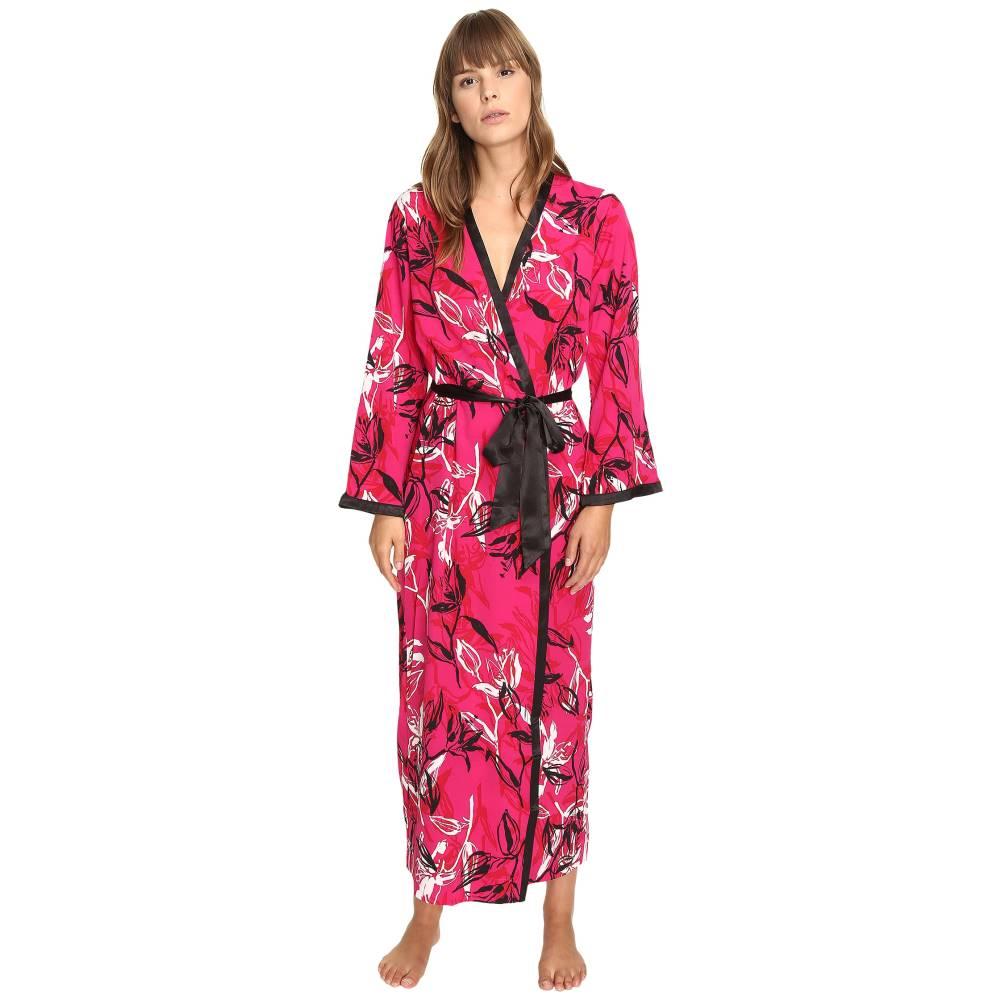 オスカー デ ラ レンタ Oscar de la Renta レディース インナー バスローブ【Printed Poly Crepe Long Robe】Berry Print