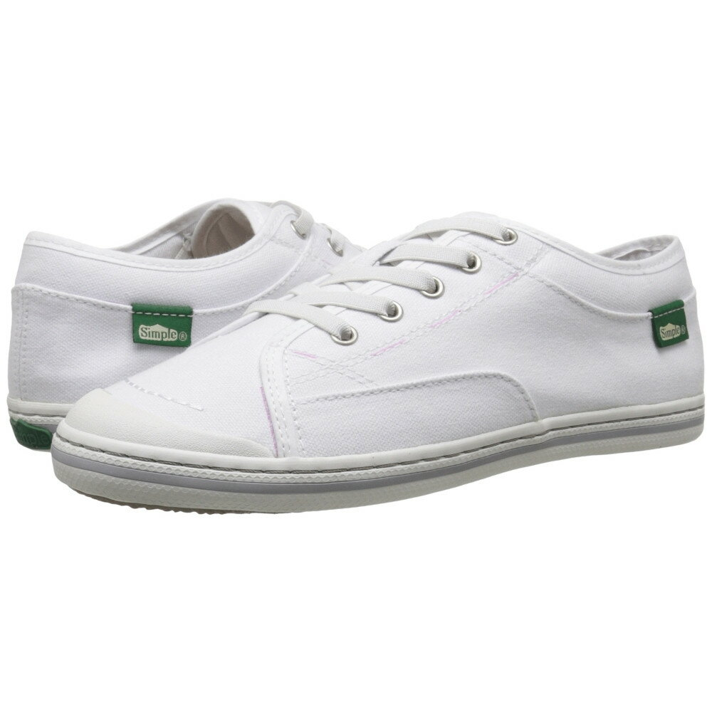 シンプル レディース シューズ・靴 スニーカー【Satire】White Soft Pre-Wash Canvas