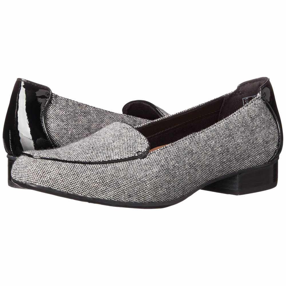 クラークス レディース シューズ・靴 ローファー・オックスフォード【Keesha Luca】Black Tweed Wool