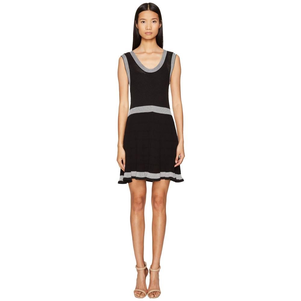 538ed2ed23263 マックイーン レディース ワンピース·ドレス ワンピース Rib Stripe Dress Darkest Black マックイーン レディース  ワンピース·ドレス ワンピース Darkest Black ...