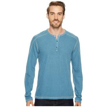 アガベ デニム メンズ トップス 長袖Tシャツ【Riptide Long Sleeve Henley Slub Thermal】Legion Blue