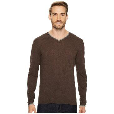 アガベ デニム メンズ トップス ニット・セーター【Fin Long Sleeve V-Neck 14GG Sweater】Shale