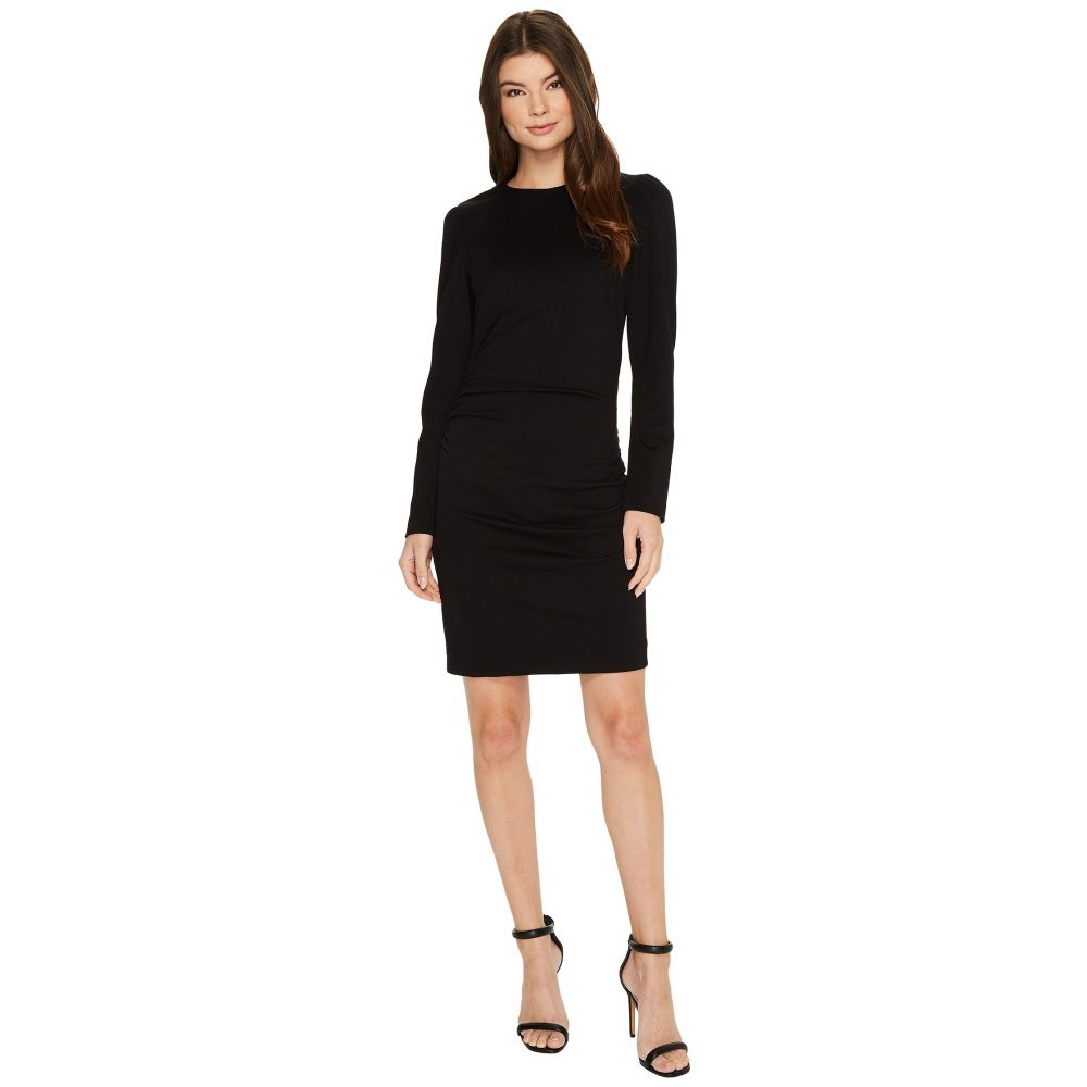 6955f45b1380e ニコルミラー レディース ワンピース·ドレス ワンピース Asymmetrical Exaggerated Shoulder Ponte  Dress Black ニコルミラー レディース ワンピース·ドレス ...
