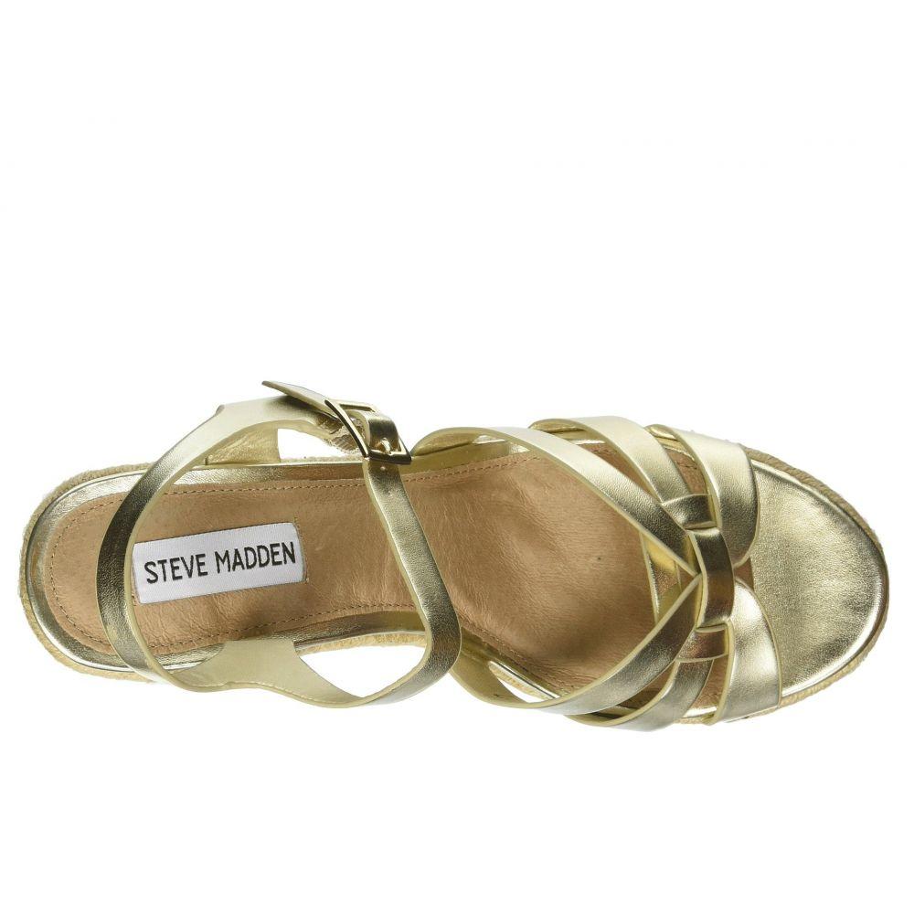 スティーブ マデン Steve Madden レディース シューズ・靴 エスパドリーユ【Knight Espadrille Wedge Sandal】Gold