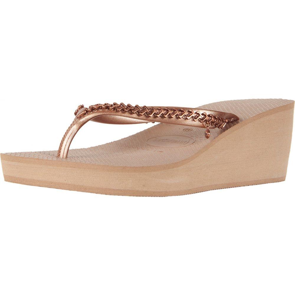 ハワイアナス Havaianas レディース シューズ・靴 ビーチサンダル【High Metal Grega Flip-Flops】Rose Gold