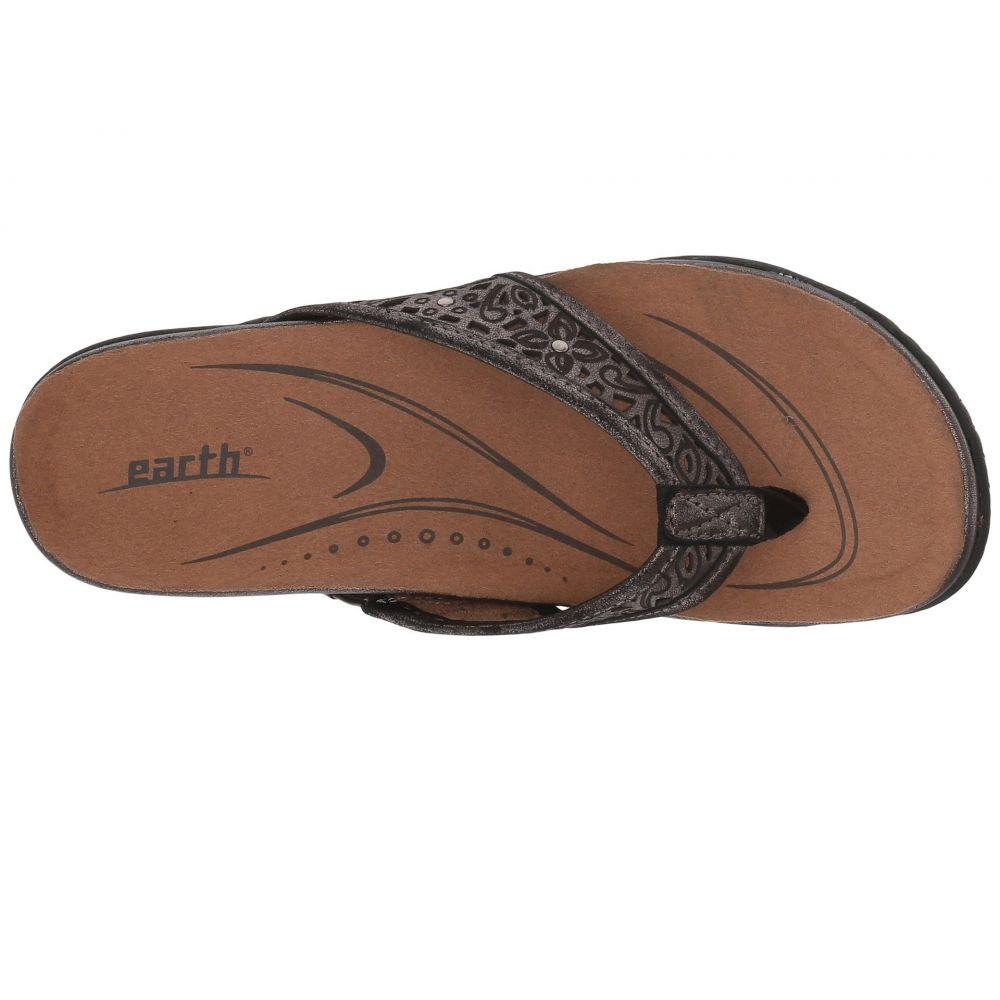 カルソーアースシューズ Earth レディース シューズ・靴 ビーチサンダル【Maya】Pewter Distressed Leather