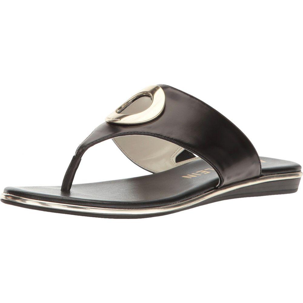 アン クライン Anne Klein レディース シューズ・靴 ビーチサンダル【Gia】Black Leather