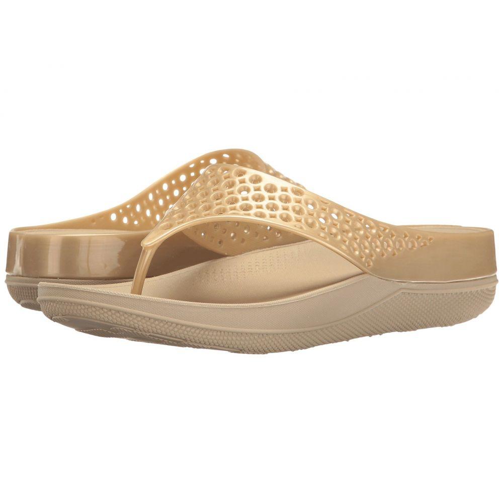 フィットフロップ FitFlop レディース シューズ・靴 ビーチサンダル【Ringer Welljelly Flip-Flop】Gold