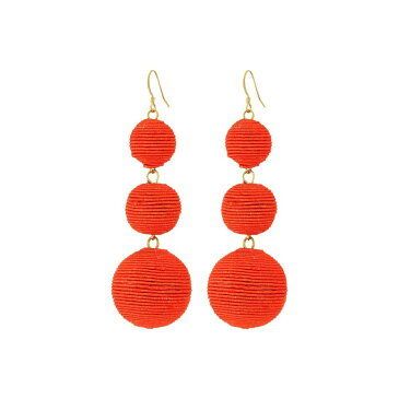 ケネスジェイレーン Kenneth Jay Lane レディース ジュエリー・アクセサリー イヤリング・ピアス【Triple Graduated Coral Thread Wrapped Balls Fishhook Top Ear Earrings】Coral