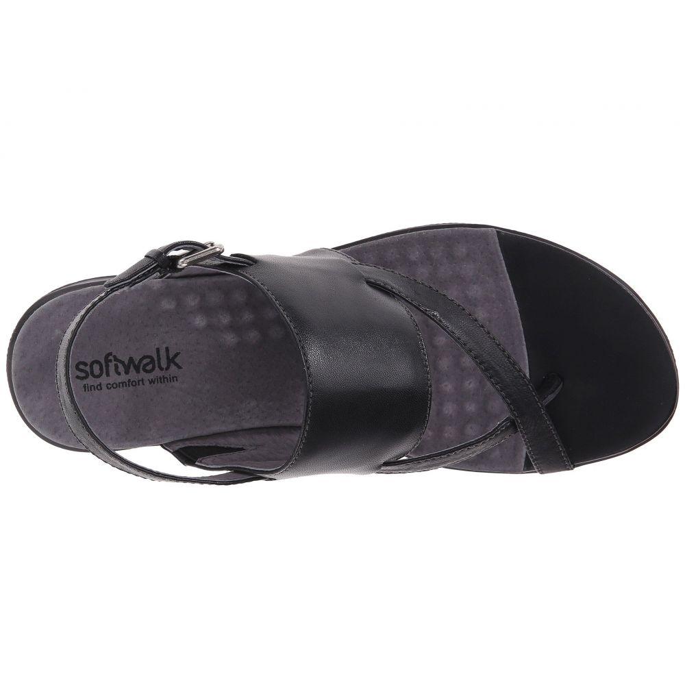 ソフトウォーク SoftWalk レディース シューズ・靴 サンダル・ミュール【Teller】Black Soft Nappa Leather