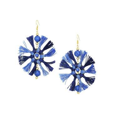 ケネスジェイレーン Kenneth Jay Lane レディース ジュエリー・アクセサリー イヤリング・ピアス【Two-Tone Navy/Light Blue Multi Tassel Fishhook Earrings】Navy/Light Blue