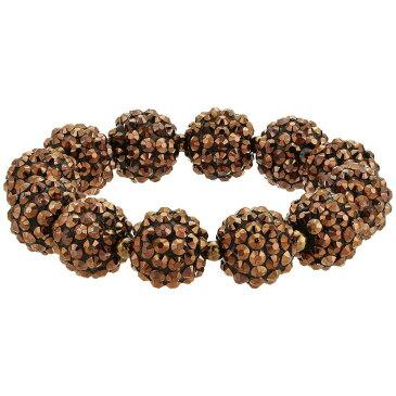 ケネスジェイレーン Kenneth Jay Lane レディース ジュエリー・アクセサリー ブレスレット【Bronze Pave Ball Stretch Bracelet】Bronze