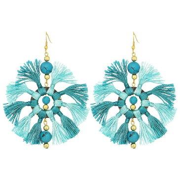 ケネスジェイレーン Kenneth Jay Lane レディース ジュエリー・アクセサリー イヤリング・ピアス【Two-Tone Turquoise/Light Turquoise Multi Tassel Fishhook Earrings】Turquoise/Light Turquoise